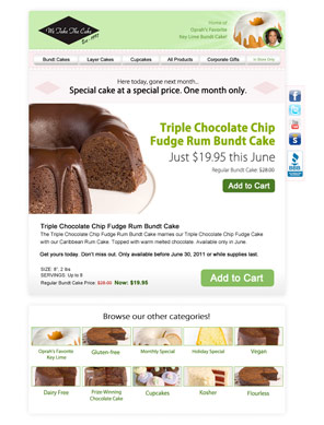 Email Example - Cake of the Month